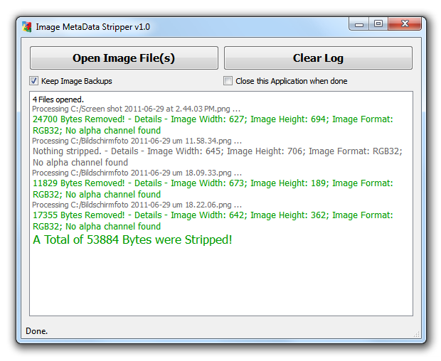 Image MetaData Stripper