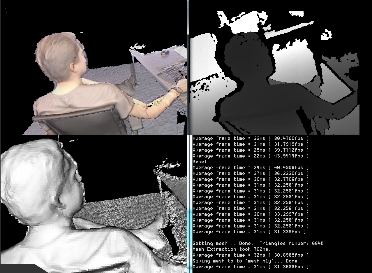 Kinect 3D Scan Screenshot